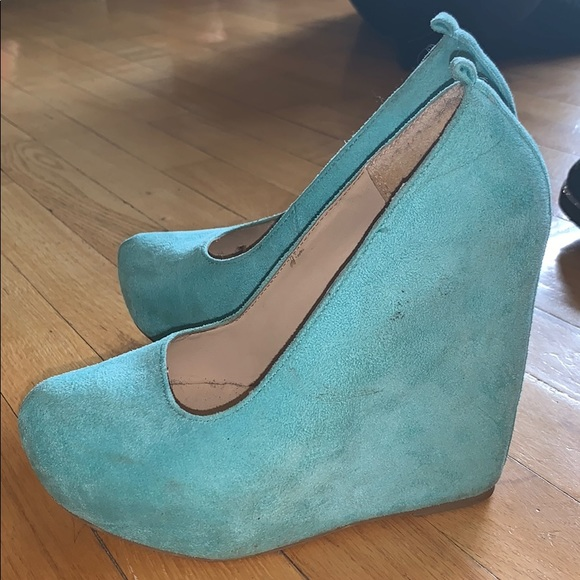 Soda Shoes - Teal Wedges